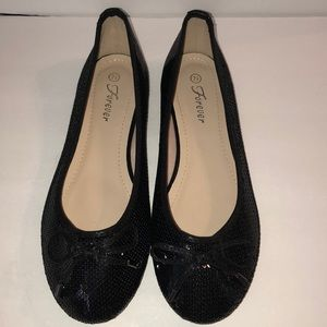 New Forever Black Flat Shoes
